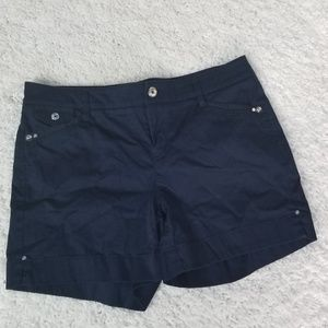 White House Black Market Blue Silver Accent Shorts